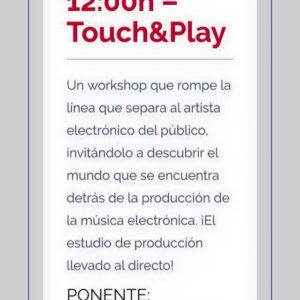 Touch&Play [Madrid Music Days 2015]